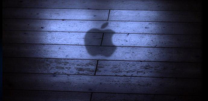 Logo de Apple en la sombra