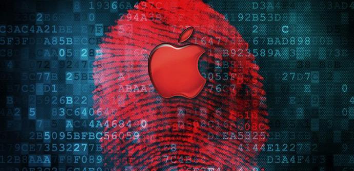 Logo de Apple en rojo