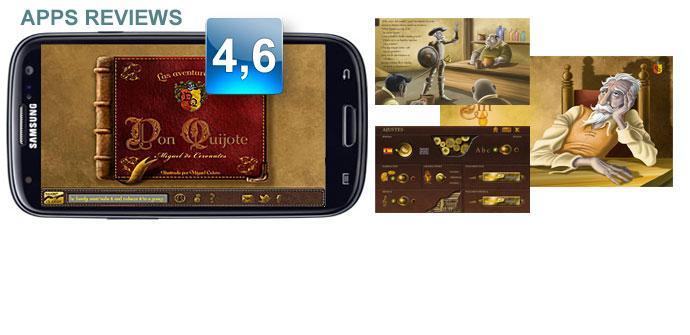 Aplicación Las aventuras de Don Quijote