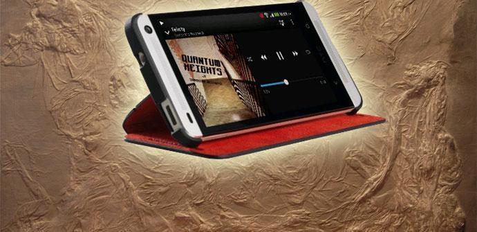 Carcasa con solapa y soporte del HTC One