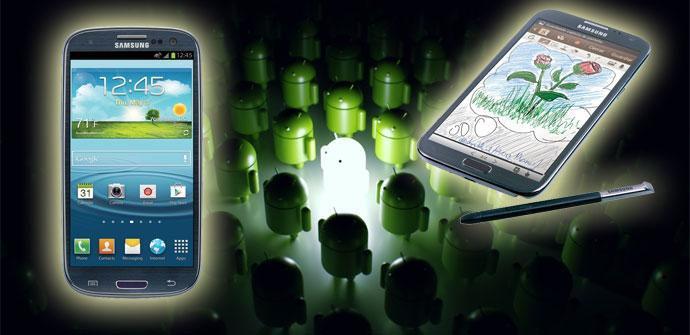 Samsung Galaxy-S3-y-Note-2 con Android