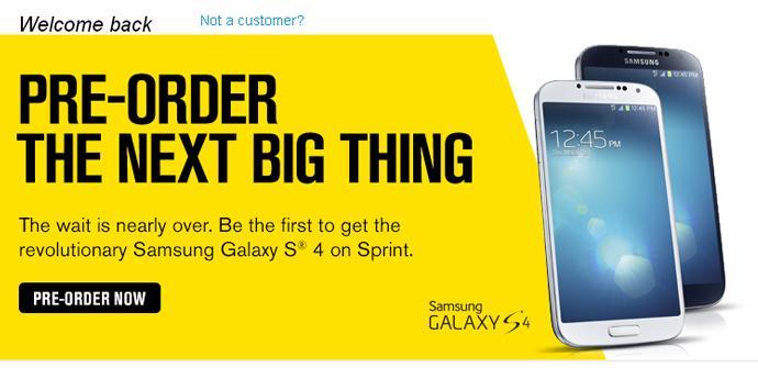 Samsung Galaxy S4 agotado con Sprint