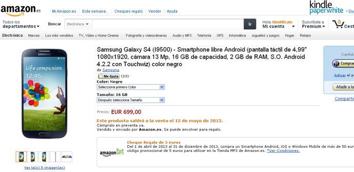 Amazon y el Samsung Galaxy S4