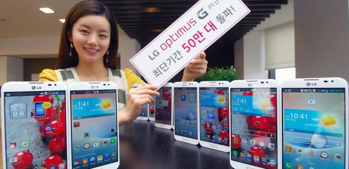 El LG Optimus G Pro alcanza las 500.000 unidades vendidas en Corea