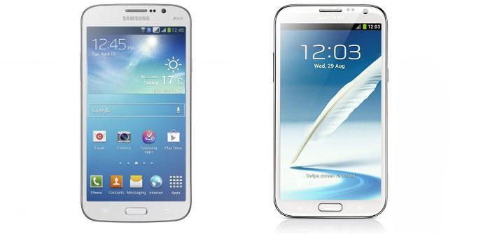 Comparativa de Galaxy Mega vs Galaxy Note 2