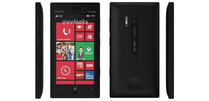 Parte frontal del Nokia Lumia 928