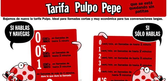 Mejora de la tarifa Pulpo Pepe