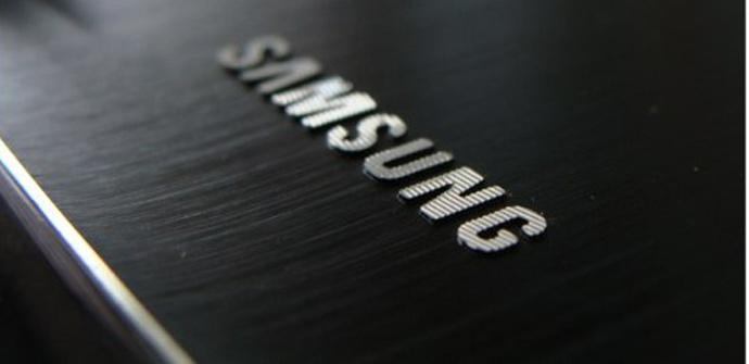 Samsung logo aluminio
