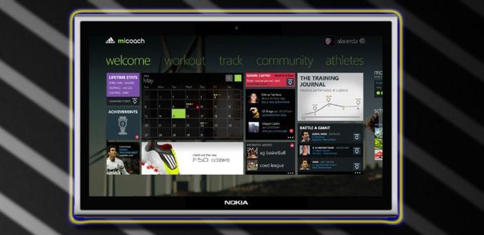 POsible diseño del tablet de Nokia