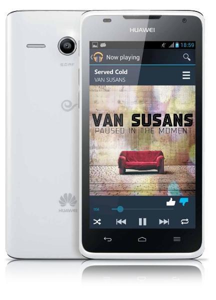 Huawei G510 vista frontal y trasera