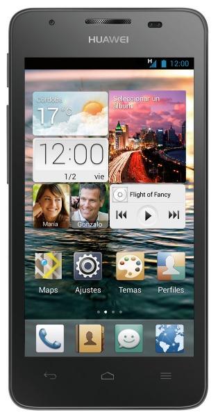 Huawei G510 en color negro vista frontal