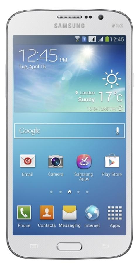 Samsung Galaxy Mega 5.8 blanco vista frontal