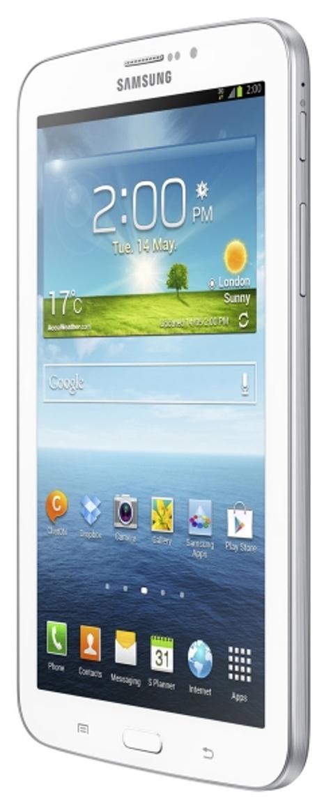 Samsung Galaxy Tab 3 blanco vista lateral