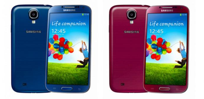 Samsung lanzará el Galaxy S4 en cuatro colores nuevos.