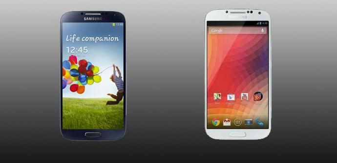 Samsung Galaxy S4 y Google Edition, principales diferencias.