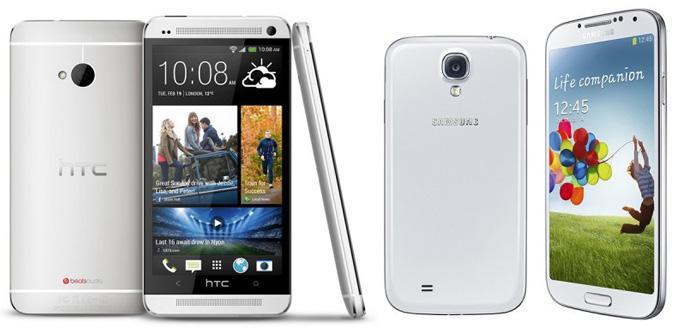 Comparativa de rendimiento entre el Samsung Galaxy S4 y el HTC One.