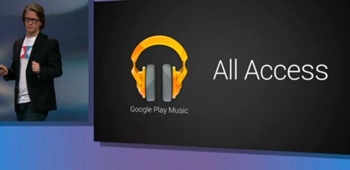 Presentación de Google Play Music All Access