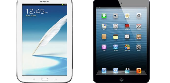 El Samsung Galaxy Note 8 vence al iPad mini.