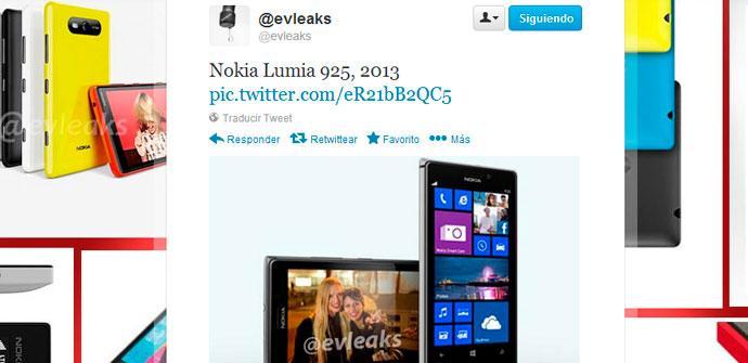 Imagen filtrada del Nokia Lumia 925
