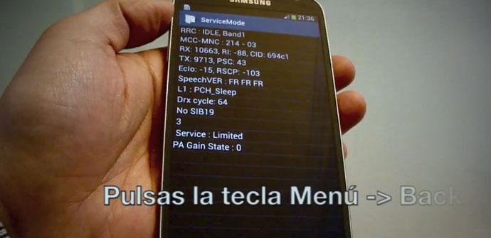 Pantalla del Samsung Galaxy S4