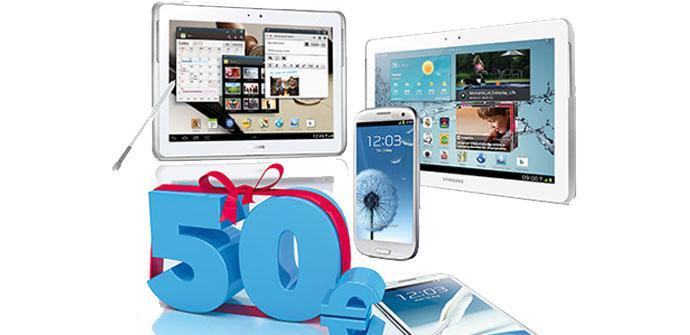 Samsung regala 50 euros en mayo.
