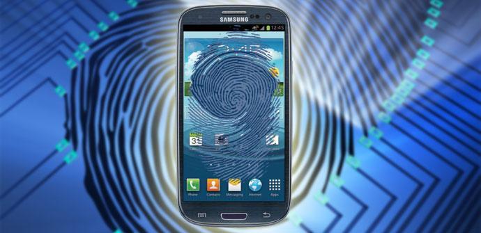 Samsung Galaxy huella