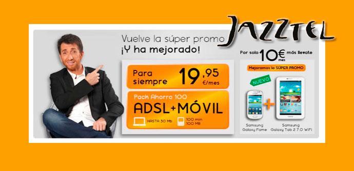 Samsung Galaxy Fame y tablet con Jazztel