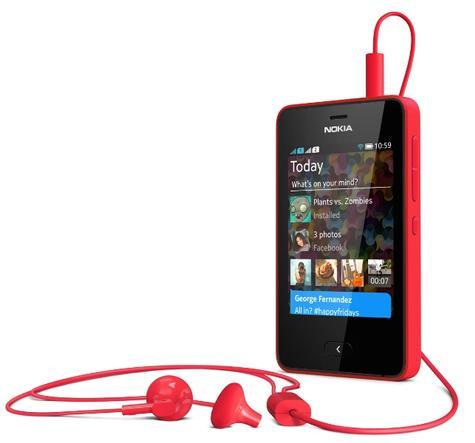 Nokia Asha 501 con auricualares