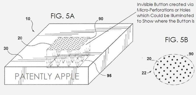 patente botones invisibles iphone 6