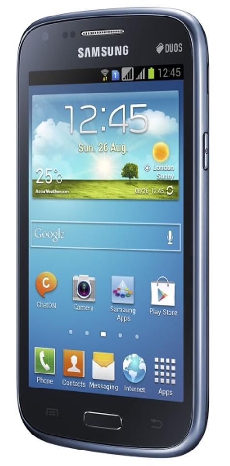 Samsung Galaxy Core blanco vista lateral