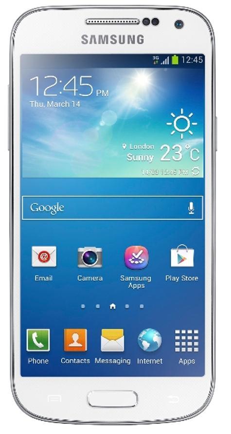 Samsung Galaxy S4 Mini blaco vista frontal