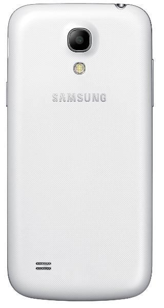 Samsung Galaxy S4 Mini blanco vista trasera