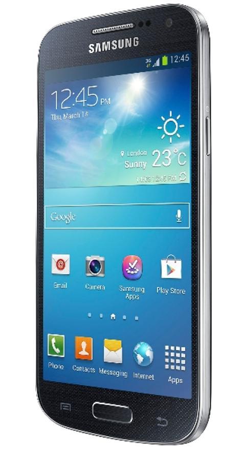 Samsung Galaxy S4 Mini vista de tres cuartos frontal