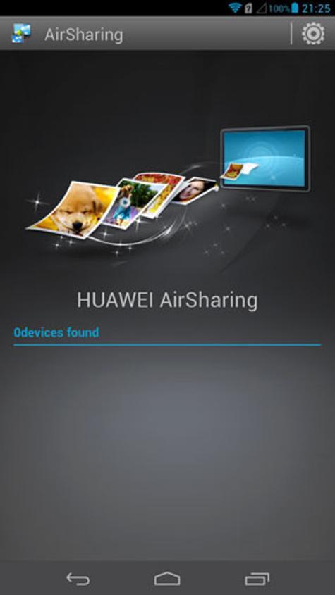 Aplicación Air Sharing en Huawei Ascend Mate