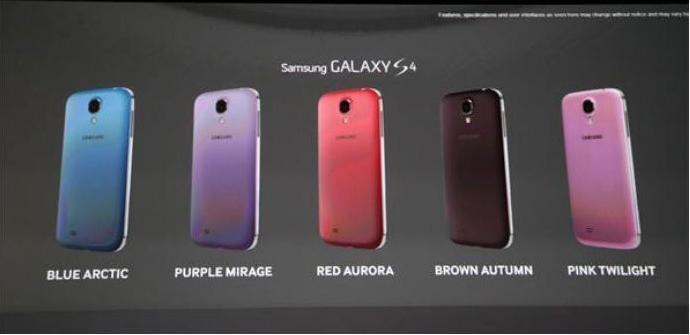 El Samsung Galaxy S4 contará con 5 colores nuevos