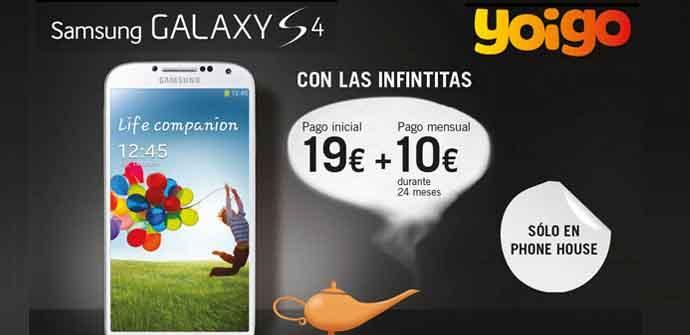 The Phone House ofrece el Samsung Galaxy S4 por 259 euros con Yoigo.