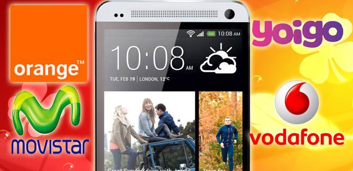HTC One, comparativa de precios y tarifas de los distintos operadores.