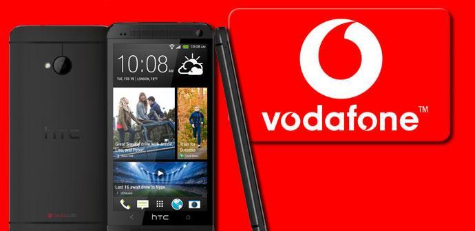 HTC One y logotipod e Vodafone