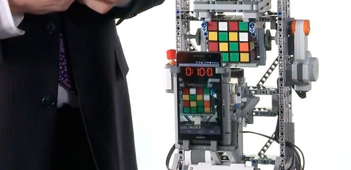 Ascend P6 resuelve el cubo de Rubik 4x4