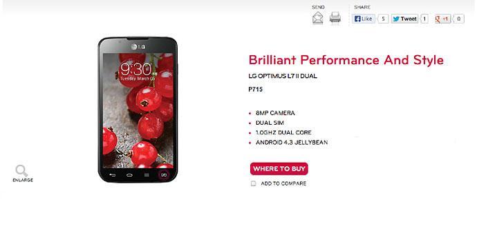 LG Optimus L7 2 con Android 4.3
