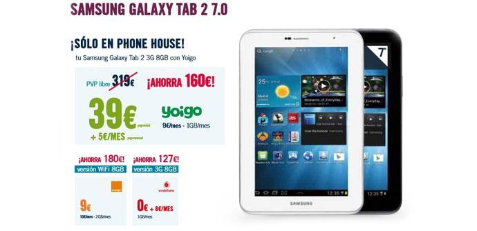 Samsung Galaxy Tab 2 7.0 en The Phone House