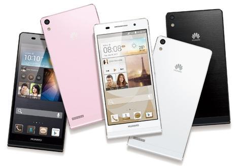 Huawei Ascend P6 en negro, rosa, blanco y negro