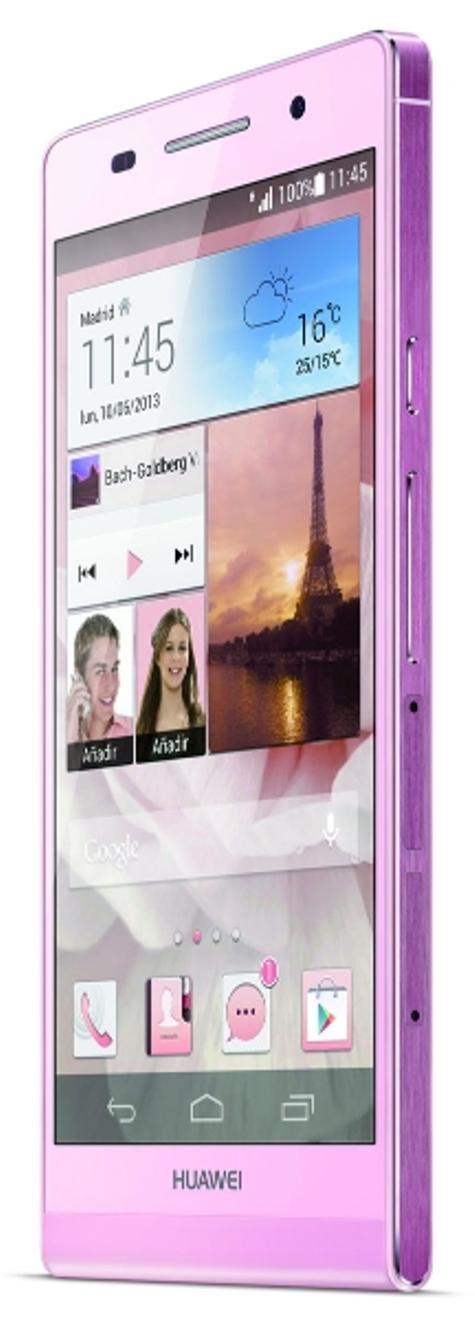 Huawei Ascend P6 en color rosa