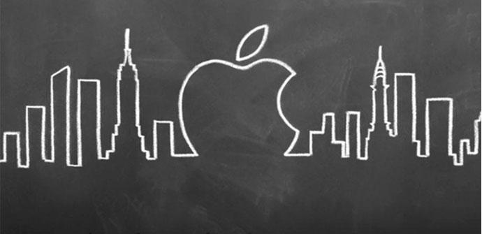 Logo de Apple en Manhattan