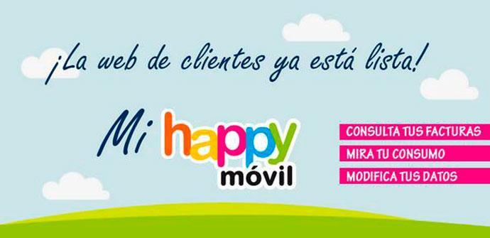 Área de clientes de Happy Móvil