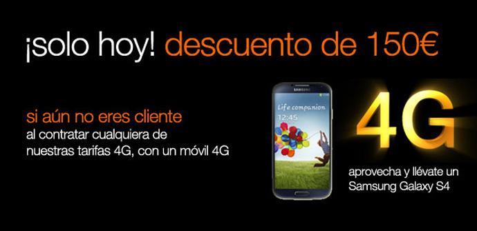 Orange lanza hoy su 4G y ofrece 150 euros de descuento en factura.