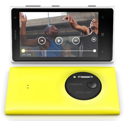 Nokia Lumia 1020 vista frontal y trasera