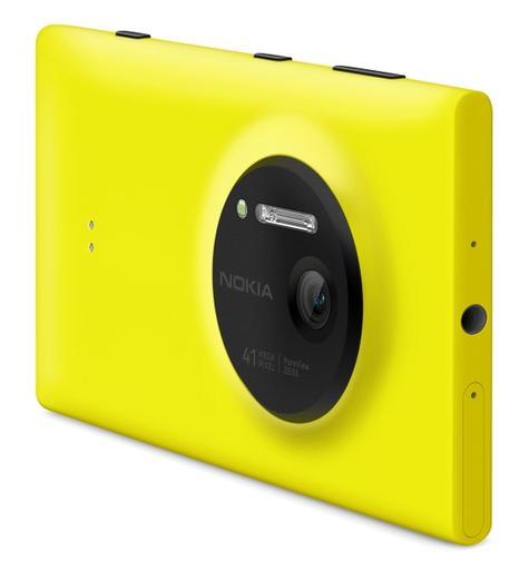 Nokia Lumia 1020 amarillo vista trasera