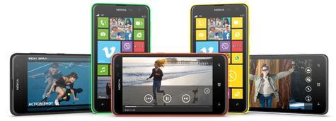Nokia Lumia 625 reproduciendo vídeo