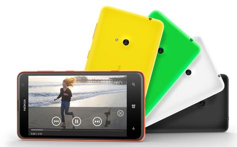 Nokia Lumia 625 en diferentes colores